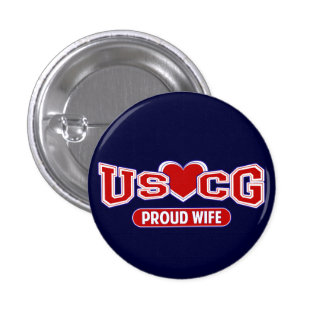 USCG Proud Wife Buttons