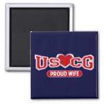 USCG Proud Wife Magnet