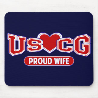 USCG Proud Wife Mouse Pad