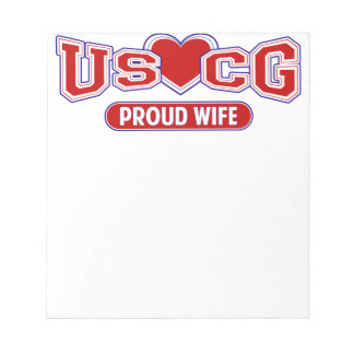 USCG Proud Wife Notepad