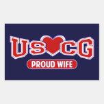 USCG Proud Wife Sticker
