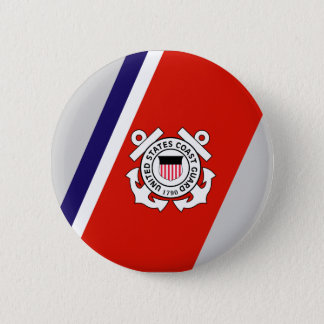 USCG Racing Stripe - Right Pinback Button