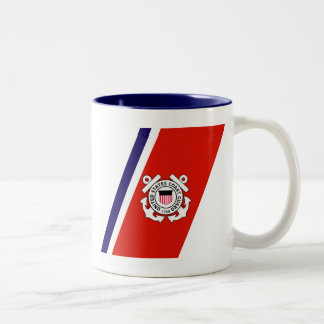 USCG Racing Stripe - Right Two-Tone Coffee Mug