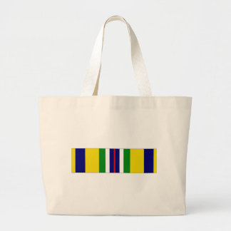 USCG Recruiting Service Ribbon Large Tote Bag