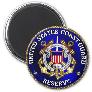 USCG Reserve 2 Inch Round Magnet