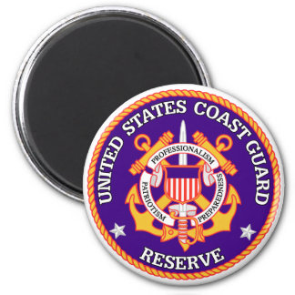 USCG Reserve Seal 2 Inch Round Magnet