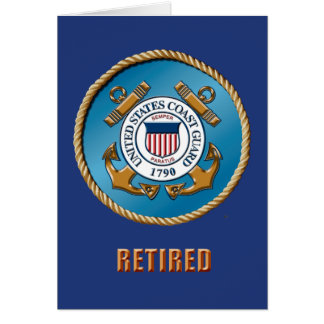USCG Ret. Greeting Card, Standard White Envelopes Card