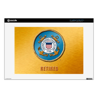"USCG Retired 13"" Laptop For Mac & PC Skins"