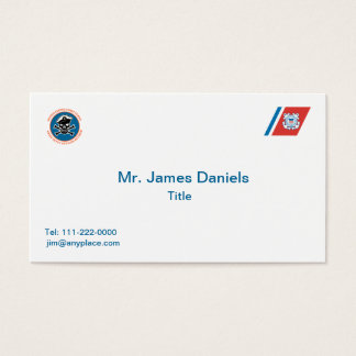 USCG Retired Chief Petty Officer Business Card