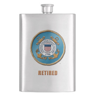 USCG Retired Classic Flask