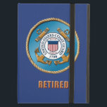 """USCG Retired iPad Air Case with No Kickstand<br><div class=""""desc"""">Show your pride in the U.S. Coast Guard. Designed by a veteran.  Customizable! Different sizes,  colors and options.</div>"""