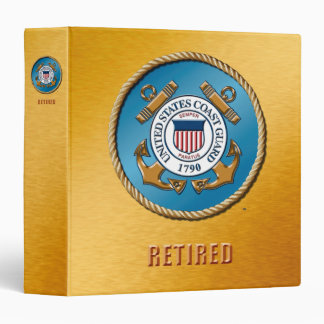 USCG Retired One Touch Ring Avery Signature Binder