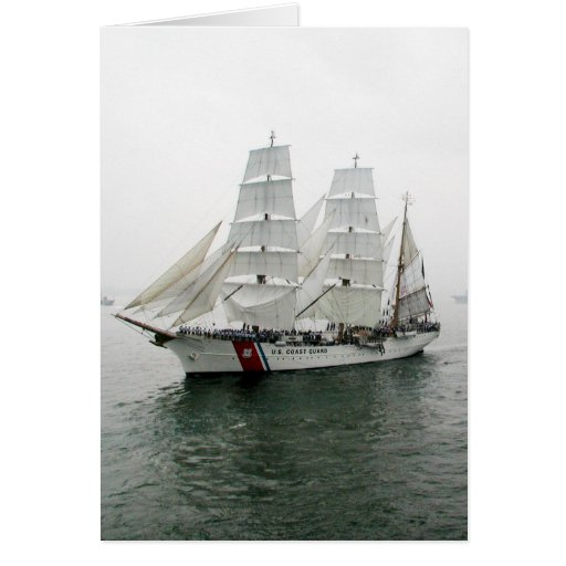 USCG Sailing Parade Greeting Card