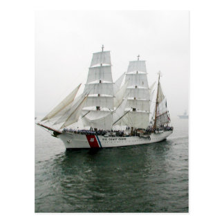 USCG Sailing Parade Postcard