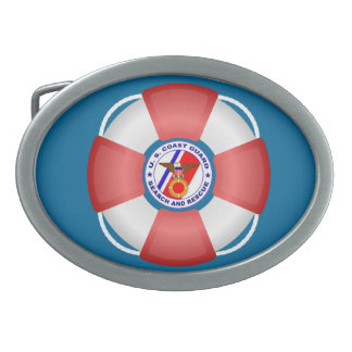 USCG Search and Rescue Buckle Oval Belt Buckle