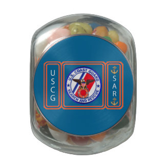 USCG Search and Rescue Glass Jars