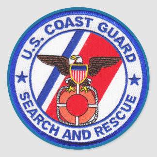 USCG Search and Rescue Classic Round Sticker