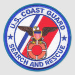 USCG Search and Rescue Round Stickers