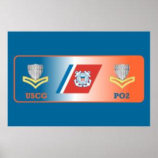 USCG Second Class Petty Officer Shield Poster