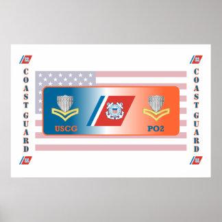 USCG Second Class Petty Officer Shield Print
