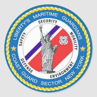 USCG Sector New York Classic Round Sticker
