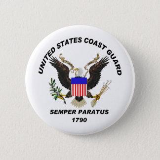 USCG Semper Paratus LIGHT Pinback Button