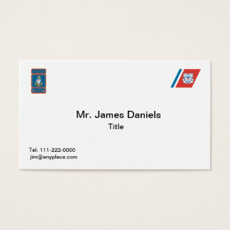 USCG Senior Chief Logo Business Card