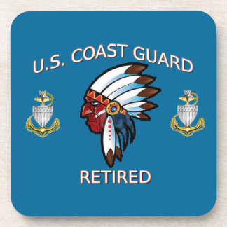 USCG Senior Chief Petty Officer Retired Drink Coaster