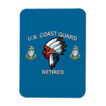 USCG Senior Chief Petty Officer Retired Rectangle Magnets