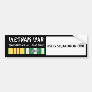 USCG SQUADRON ONE VIETNAM WAR VETERAN CAR BUMPER STICKER