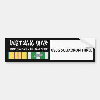USCG SQUADRON THREE VIETNAM WAR VETERAN CAR BUMPER STICKER