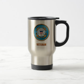USCG Stainless Steel 15 oz Travel/Commuter Mug