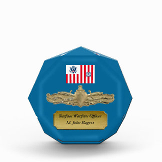 USCG Surface Warfare Officer Badge Award Octagon