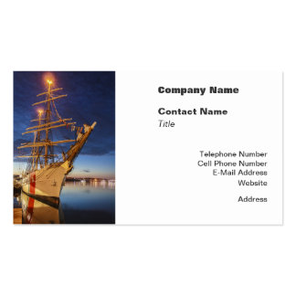 USCG Tall Ship at Halifax Harbour, Nova Scotia, Ca Double-Sided Standard Business Cards (Pack Of 100)