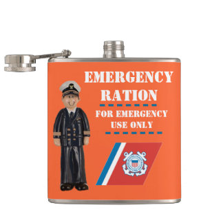 USCG Toy Officer Emergency Vinyl Wrapped Flask