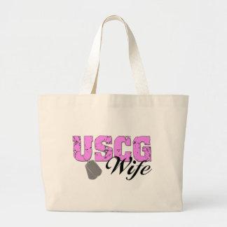 USCG Wife Jumbo Tote Bag
