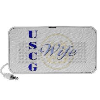 USCG Wife Doodle Speaker