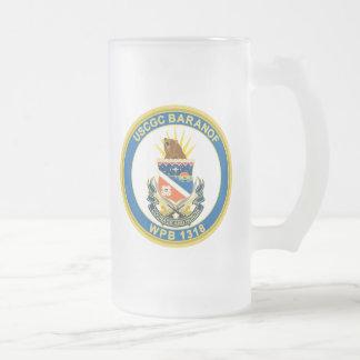 USCGC Baranof WPB-1318 16 Oz Frosted Glass Beer Mug