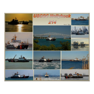 USCGC Cutter Hollyhock WLB-214 Poster
