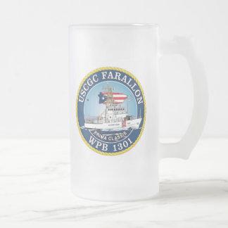 USCGC Farallon WPB-1301 Frosted Glass Beer Mug
