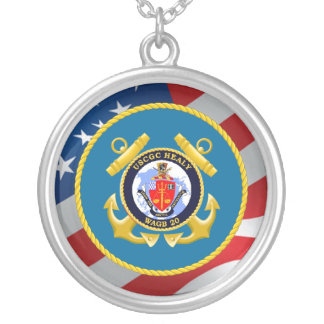 USCGC Healy WAGB-20 Round Pendant Necklace