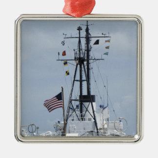 USCGC Ingham Adorno Navideño Cuadrado De Metal