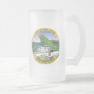 USCGC Key Largo WPB-1324 Frosted Glass Beer Mug