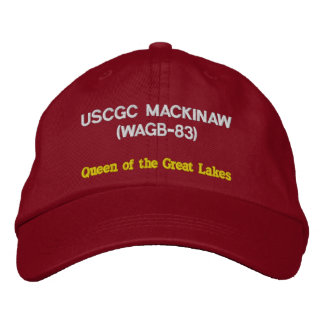 USCGC MACKINAW (WAGB-83) 'Queen of the Great Lakes Embroidered Baseball Cap