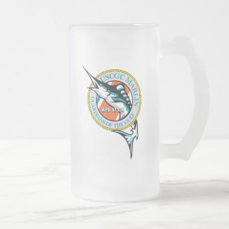 USCGC Marlin WPB-87304 Frosted Glass Beer Mug