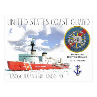USCGC Polar Star WAGB-10 Ice Breaker Cutter Postcard