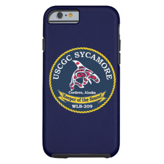 "USCGC Sycamore WLB-209 ""Navy Blue"" Tough iPhone 6 Case"