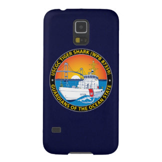 """USCGC Tiger Shark WPB-87359 """"Navy Blue"""" Case For Galaxy S5"""
