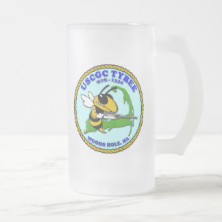 USCGC Tybee WPB-1330 Frosted Glass Beer Mug