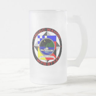 USCGC Wahoo WPB-87345 Frosted Glass Beer Mug